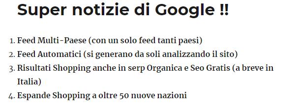 Super notizie di Google !!